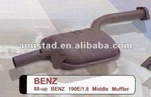 Auto part middle muffler for BENZ W201 190E/1.8