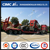 Cimc Huajun 3axle Lowbed Semi-Trailer with Pillars on Both Sides