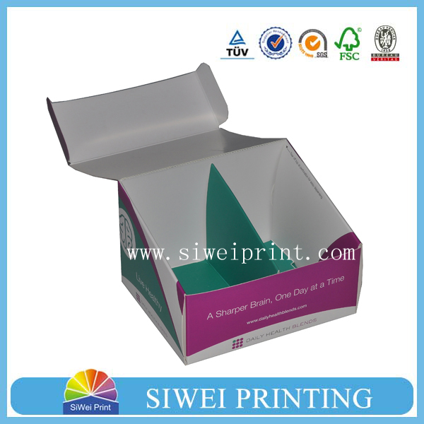 Cardboard custom printed counter display boxes/ corrugated packaging box/ cardboard box wholesale