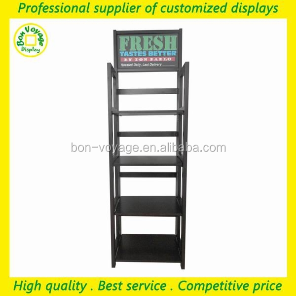 custom retail shops collapsible wooden flooring wood point of sale display stand