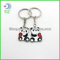 Round and round red panda lovers keychain key ring / key chain (LF-192)