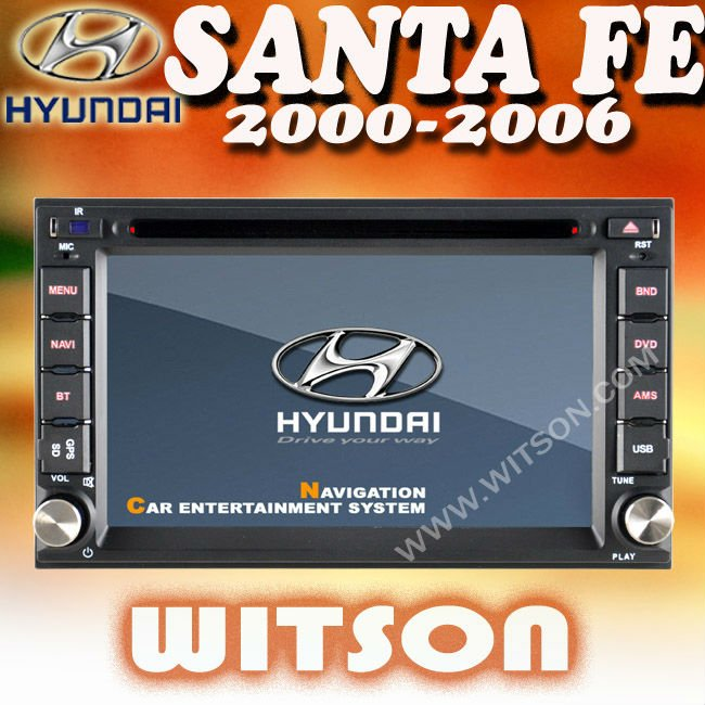 WITSON HYUNDAI SANTA FE 2000-2006 DOUBLE DIN CAR STEREO with USB port and iPod ready