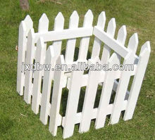 White Wooden Small Garden Fence