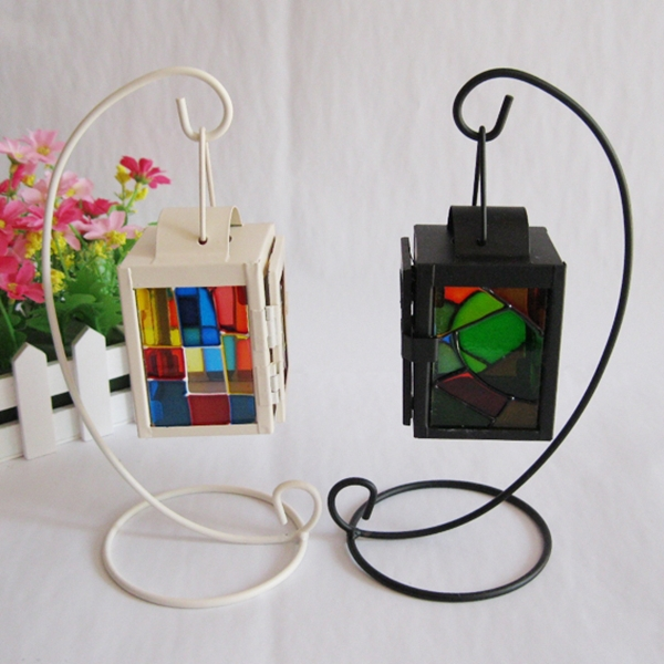 art collectable iron hanging votive candle holder