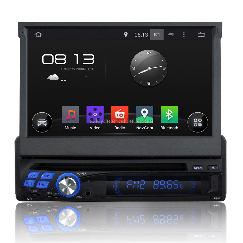 "honest prices and goods with android quad-core MP3 MP4 Touch screen Flash 16GB single din car dvd player for 7"" universal model"