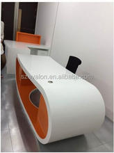 Smart design office furniture modern reception desks, Artificial Stone Reception Counter