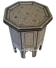 Egyptian Mother of Pearl Inlaid Coffee Tea Table