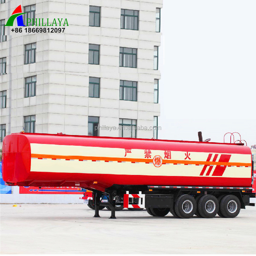 Phillaya Brand 3 <strong>axles</strong> 50M3 Aluminum oil tanker <strong>car</strong> semi trailer