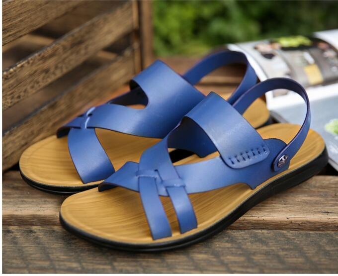 2017 Hot sale cheap price plastic sandals for men foot soft falt sole men shoes