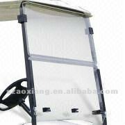Club car Golf Cart parts - Folded Transparent Windshield , wholesale golf cart parts