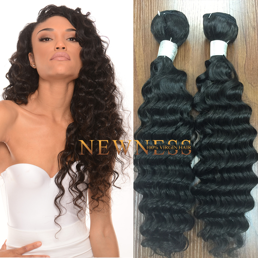 2015 Fast Shipping Unprocessed Brazilian hair loose deep wave weave hairstyles