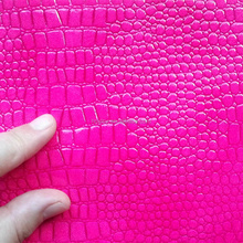Wholesale crocodile textured faux leather fabric