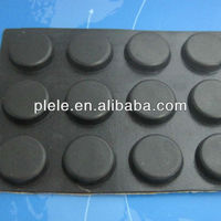 supply high quality round rubber foot with adhesive