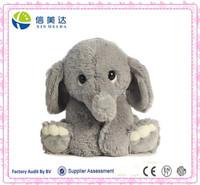 Plush Grey 0+ Baby Elephant Toy