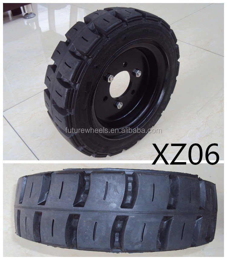 ANYGO brand 27x10-12 /8.00 XZ06 Forklift solid tyres, Pneumatic solid tyre, solid resilient tyres