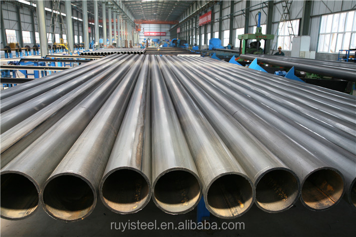 Tianjin ruyi boai alibaba best sell ERW steel pipes with connectors, welded steel pipes with interlock professinal manufacturer
