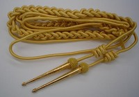 Army Gold Aiguillette FULL in mylar & wire