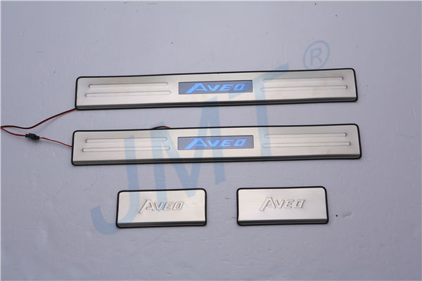 Top Seller ! Door sill plate with LED for CHEVROLET AVEO