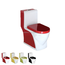 Hot sale ceramic sanitary black yellow red green color toilet bowl porcelain closestool rotation water closet