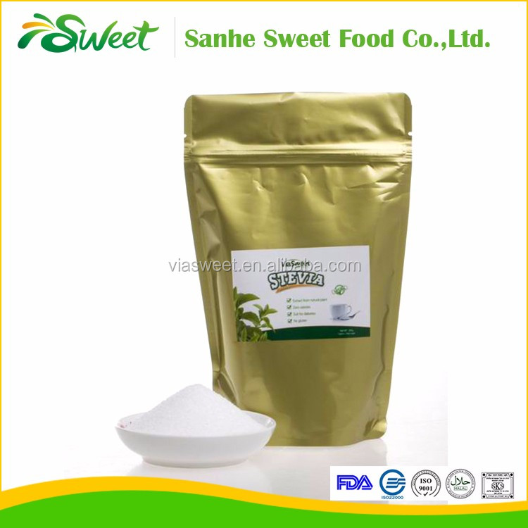 Low calorie with 100g/250g/400g stevia table top sugar sweetener used for food additives