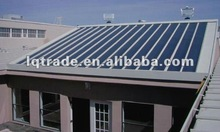 Standing seam metal roofing with integrated solar photovoltaic