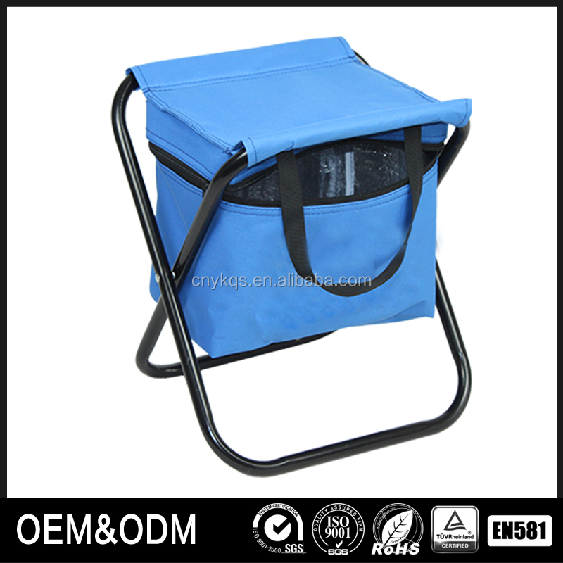 Backpack arms fold fishing chairs with colordul bag