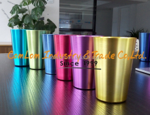 15oz/17oz colorful Aluminum oxidized Shot Glass/cup/mug/tumbler
