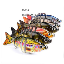 multi jointed lure 6 sections herring hard body swim bait