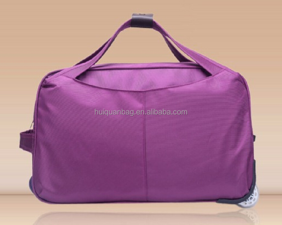 foldable trolley travel duffel bag with secret compartment