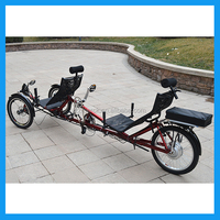 Fitness 3 Wheel Electric Tandem Tricycle