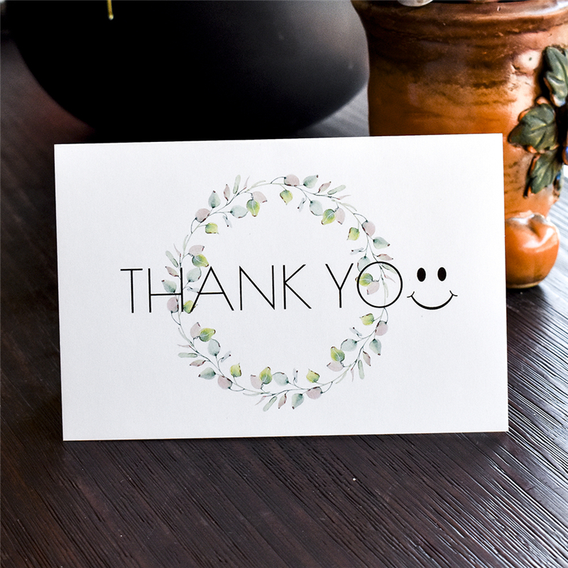 Amazon Hot Sell Custom Greeting Card Floral Thank You Cards with Envelopes