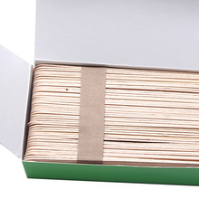 100 PCS 1.8*15 CM Large Depilatory Wax Applicators Spatulas Smooth Hair Removal Wooden Stick
