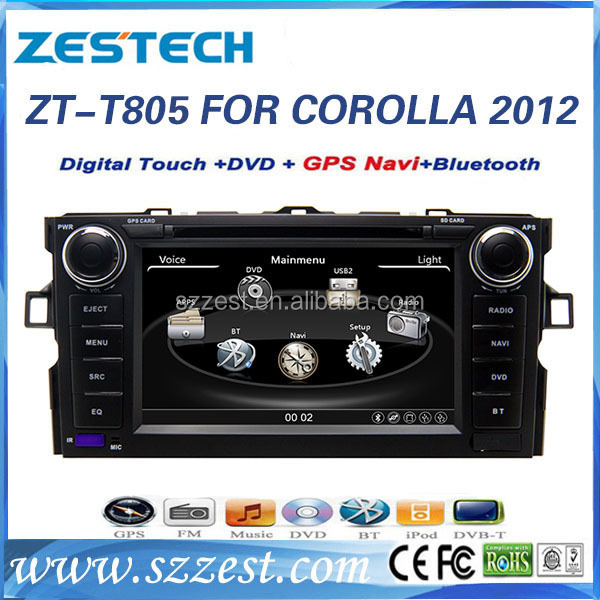 ZESTECH Car multimedia Audio Video DVD for Toyota 2012 Corolla Car Navigation and Entertainment system car dvd with gps