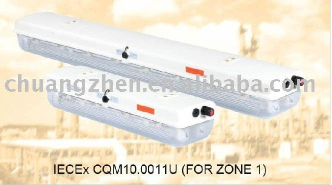 2x36w explosion proof fluorescent light fitting,
