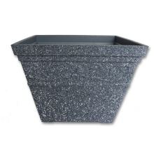 square antique HDR plastic flower pot garden pot