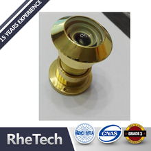 Solid Brass 180 degree glass security door knocker and viewer