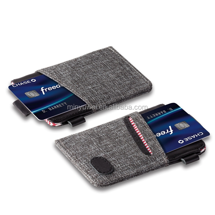 Ultra professional business Minimalist slim wallet & front pocket compact design credit card holder for men and women