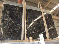 China Portoro Marble With Black Gold