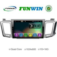 Quad core Android 4.4 Car navi For Toyota RAV4 2013 Built-in Wifi 1024*600 3G radio aux