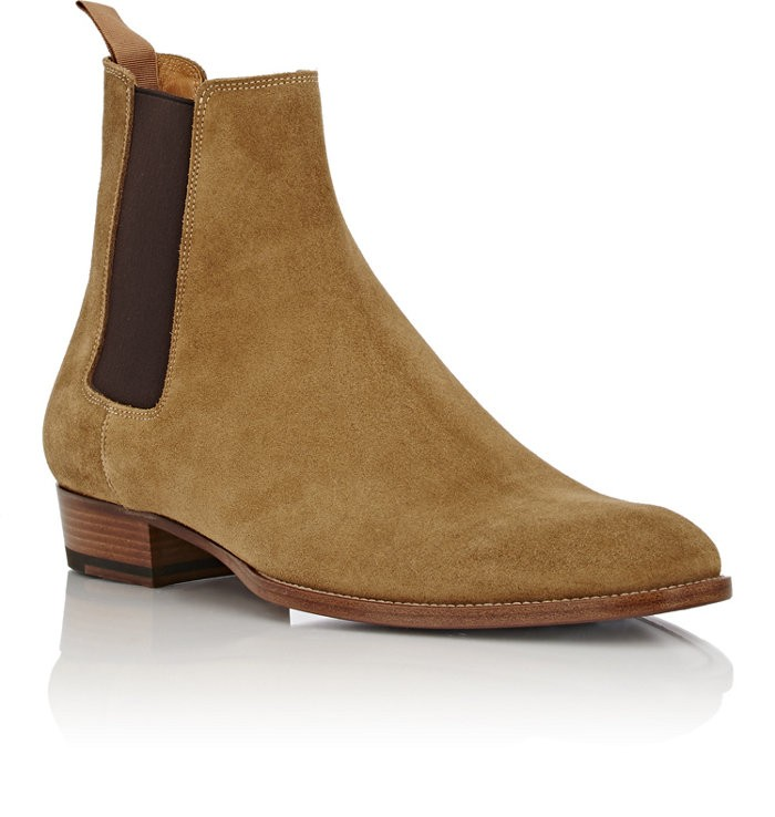 leatherboots/suede chelsea boot/trendy boots