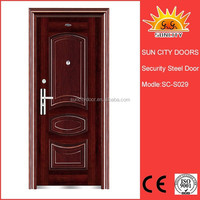 Used safety door design with grill in metal SC-S029