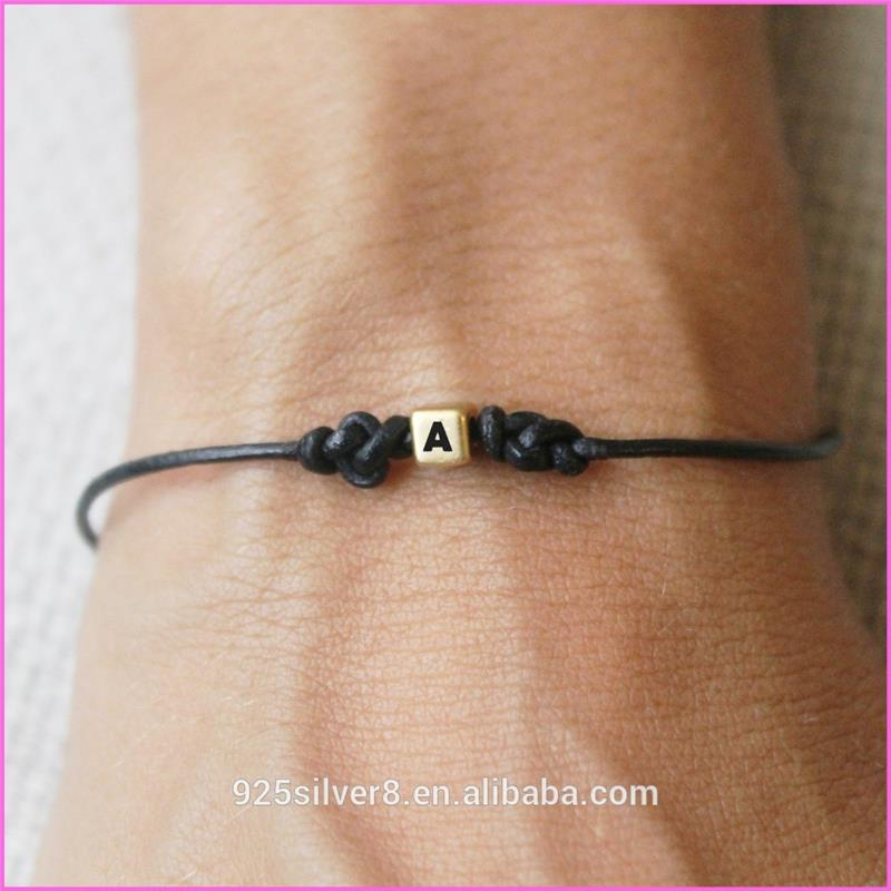 black bead with gold nugget bracelet black friendship
