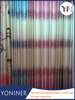Elegant rural style floral printed blackout curtain fabric for girls, beautiful and 100% sun shade, flame retardant
