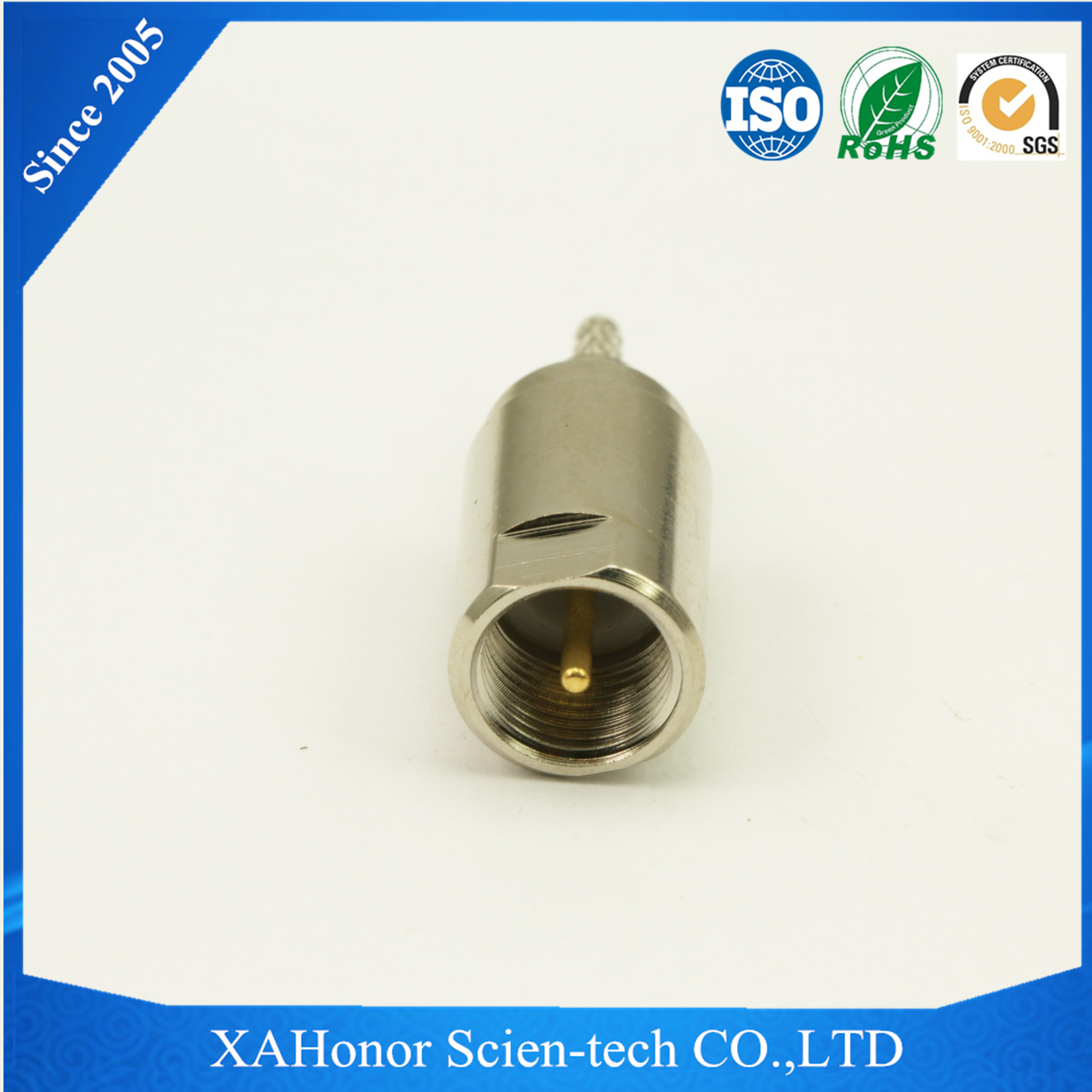 Connector rf fme to uhf male adaptor for RG174