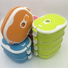 3 Layers Stainless Steel Insulated Food Carrier thermal bento box