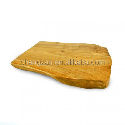 High Quality Natual Sharp And Color Hand Carved Olive Wooden Chopping Board Cutting Board