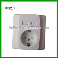 USB switches and sockets , switch panel , Germany series USB Universal socket with usb ports