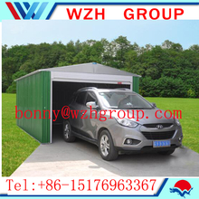car garage steel structure , double car shed at low price