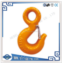 drop forged hardware US type alloy steel/carbon steel eye shape lifting slip hook with or without latch