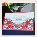 Red lace wedding party supply laser cut new product wedding invitation card factory